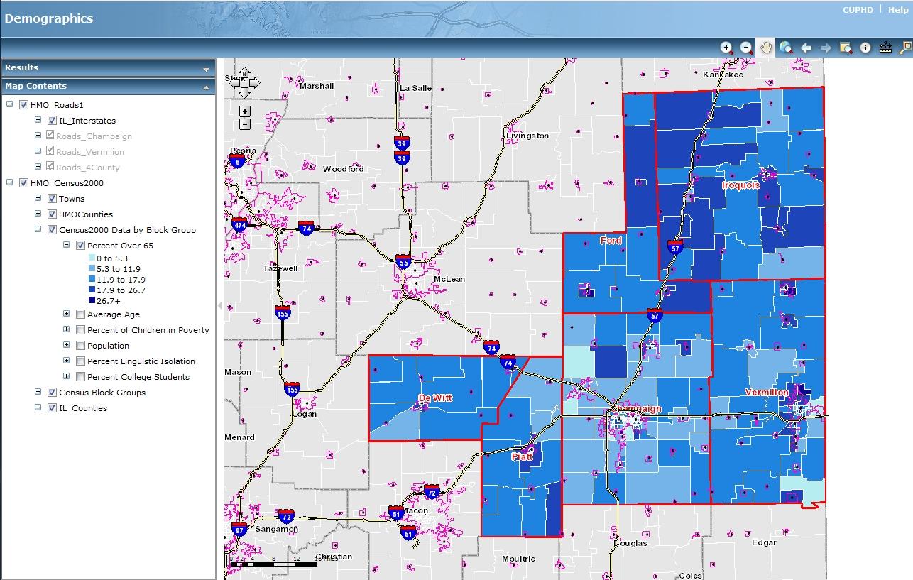 health map online demographics