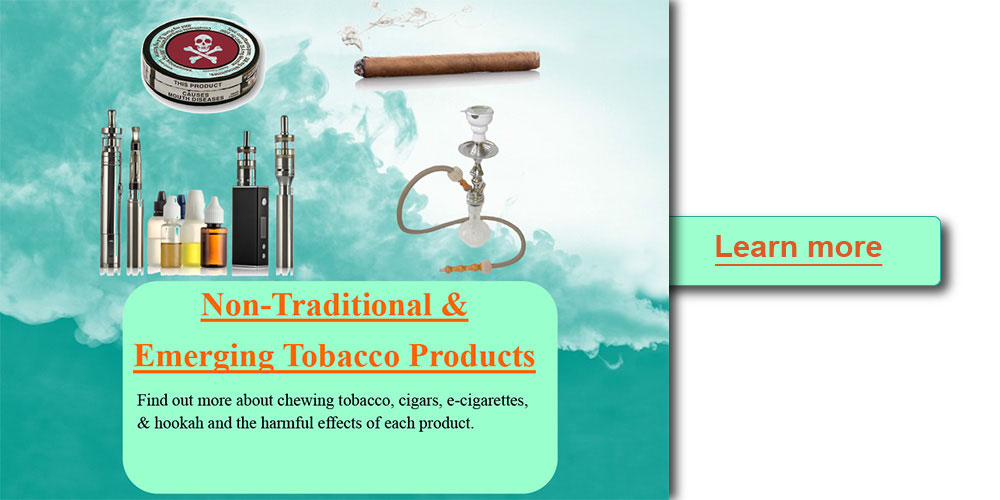 Non traditional and emerging tobacco products
